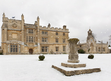 Farleigh House in winter