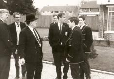 George Brown, Peter Sibley, John Roberts, Dave Robson, Peter Heindorff, John Monahan and Jamie Monahan off on tour.