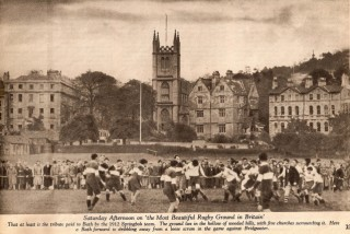 A game being played on the Recreation Ground in 1912