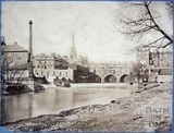 1870 Pulteney Bridge and Monks Mill