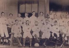 1872 England Team v Scotland including Bath's Frank D' Aguilar