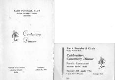 Bath Football Club Centenary Celebrations 1865-1965