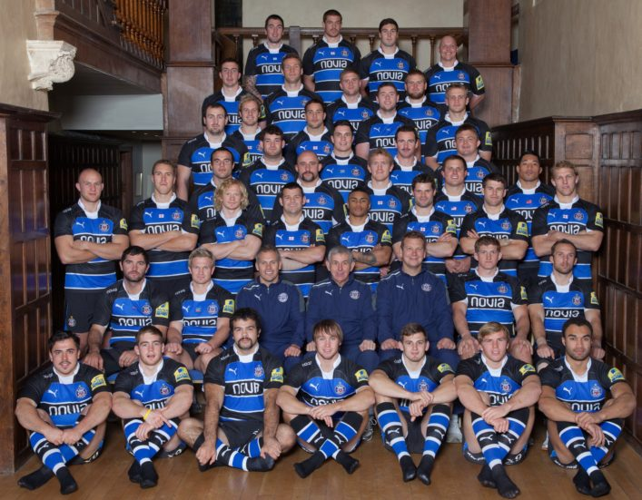 2011 2012 Bath Rugby Squad photograph