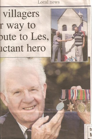 War Hero Les Pring