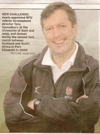 Referee Tony Spreadbury