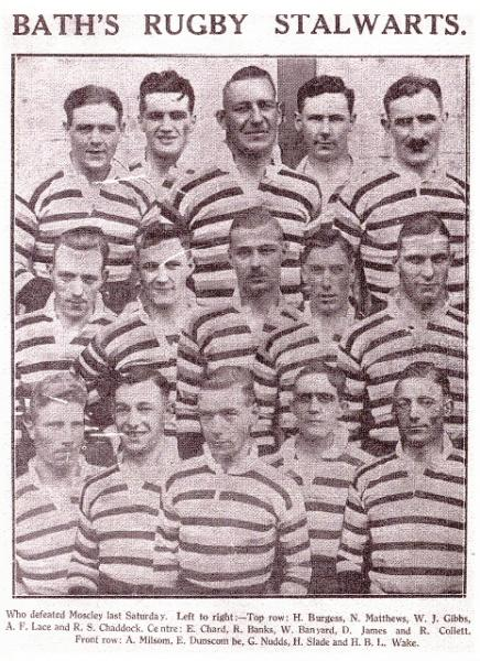 Team Photograph 1926 v Moseley
