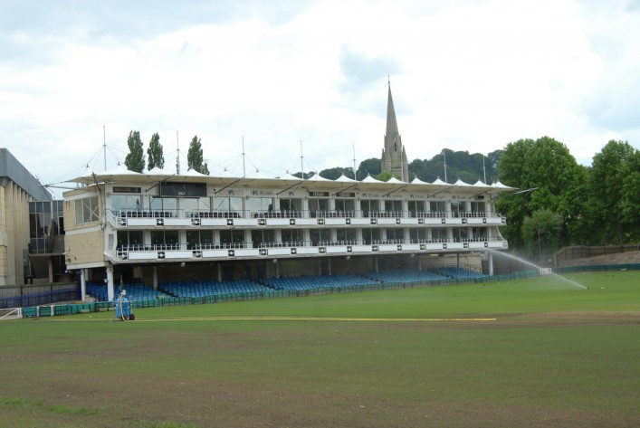 The Hospitality suites at the south end of the Recreation ground