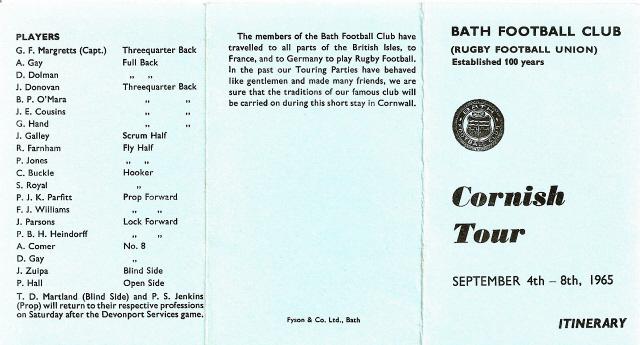 Cornish Tour 1965 1
