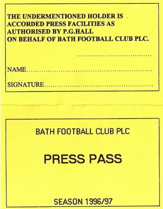 Typical Press Pass