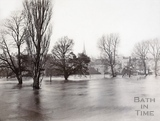 Nothing but flood water in 1894, Bath's first year on the Recreation Ground