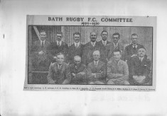 Bath Committee 1929-1930