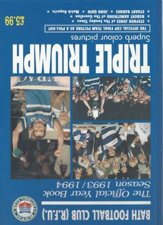 BATH RFC(RFU) - The Official Year Book Season 1993/1994 - Triple Triumph