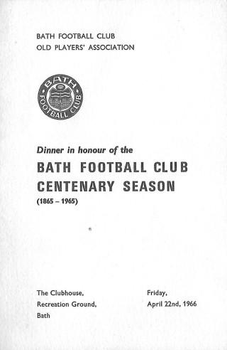 Bath Old Players Dinner for the Centenary Season