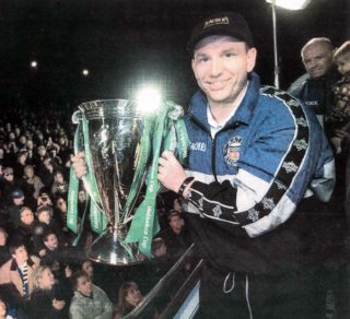 Andy Nicol with European cup