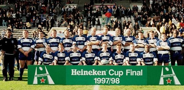 1998 Bath Rugby Squad v Brive Heineken Cup Final
