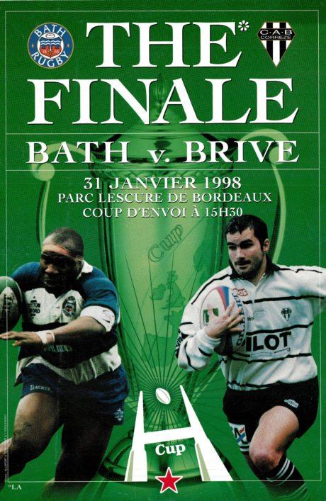 1998 Bath v Brive Heineken Cup Final