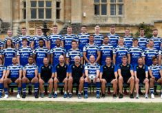 2018 2019 Bath Rugby Squad and Coaches photograph